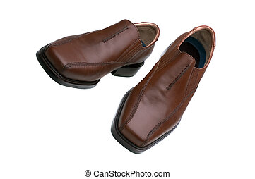 Brown Shoes - A Pair Of Mens Brown Fashion Shoes Isolated