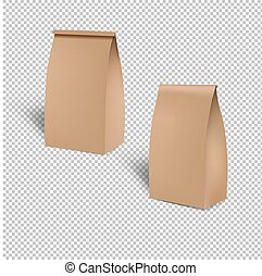 Brown Shopping Paper Bag Isolated Transparent Background