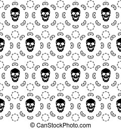 Brown Skull Pattern