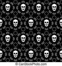 Brown Skull Pattern