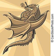 Brown slain Dragon