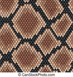 Brown snake seamless pattern