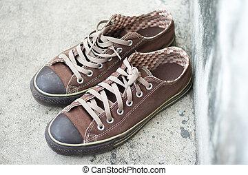 brown sneaker