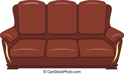 brown sofa isolated on a white background