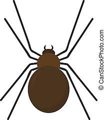 Brown spider, illustration, vector on white background.