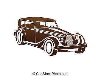 Brown sport classic automobile