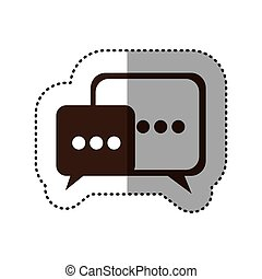 brown square chat bubbles icon