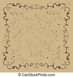 Brown squiggly background