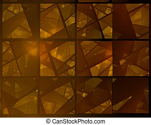 brown stained glass fractal - dark brown stain glass paned...