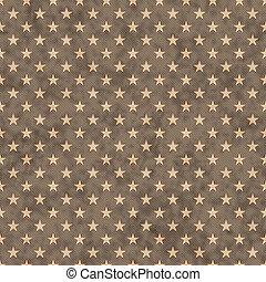 Brown stars seamless pattern background