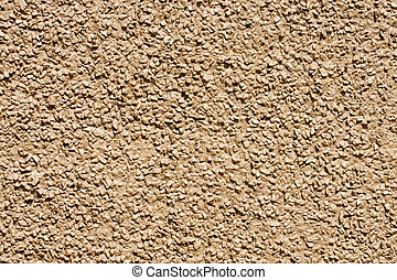 Brown Stone Aggregate Wall - A wall of stone aggregate ...