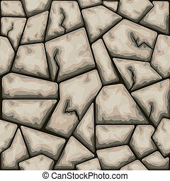 Brown stone seamless pattern - Vector illustration of brown...