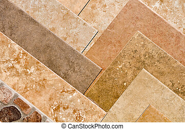 Brown Stone Tile Samples