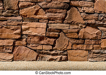 Brown Stone wall