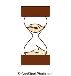 brown stop watch and hourglass icon design