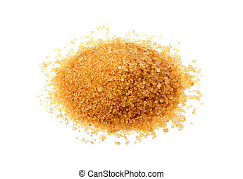 Brown sugar isolated.