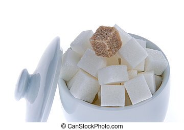 Brown sugar. Poor nutrition with carbohydrates