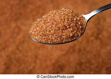 Teaspoon of brown unrefined sugar