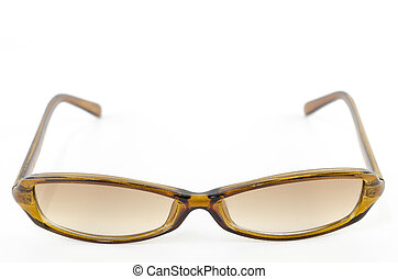 brown sunglasses isolated on white