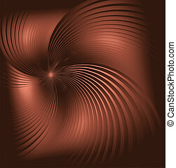 Brown swirl  abstraction background