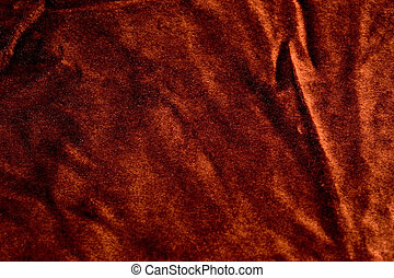 Brown synthetic fabric