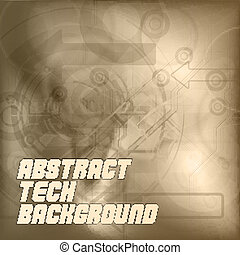 Brown Tech Background