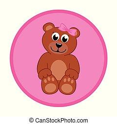 brown teddy bear baby girl
