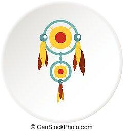Brown teddy bear head icon circle