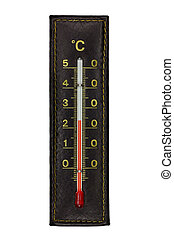 Brown thermometer isolated