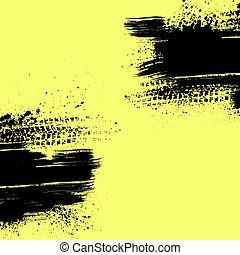 Brown tire track background - Yellow tire track background...