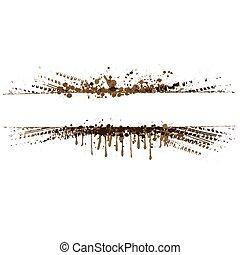 Brown tire tracks frame