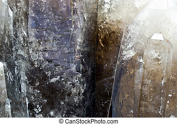 Background of big brown topaz crystal.