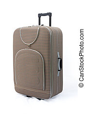 Brown travel suitcase