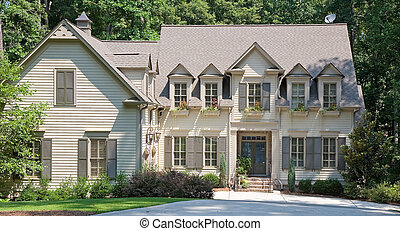 Brown Two Story Siding