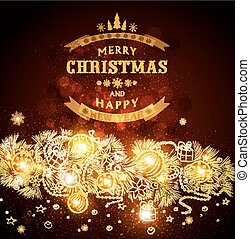 Brown vector Christmas background w