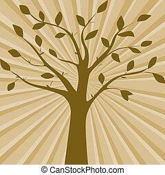 Brown vector illustration of tree.