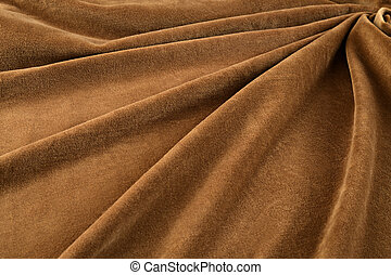 brown velvet close-up. Fabric macro for texture and background
