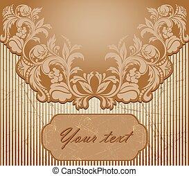 brown vintage card