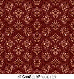 brown vintage seamless vector pattern