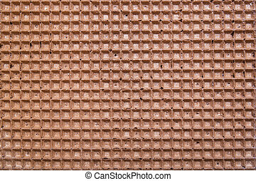 brown wafer background or texture