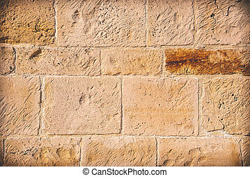 Brown Wall background with stones