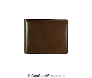 brown wallet on a white background
