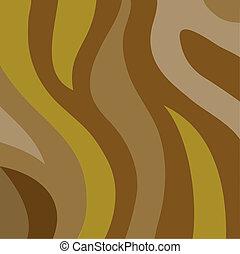 Brown wavy stripes