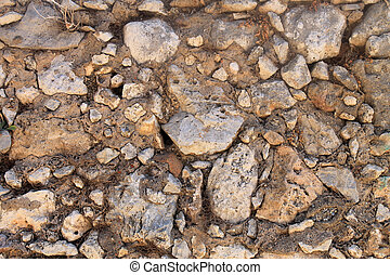 brown weathered stone wall background