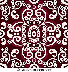 Brown-white vintage seamless pattern