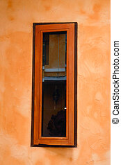 Brown window vintage