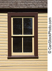 Brown Window with Panes