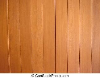 Brown wood.