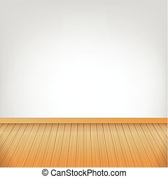 Brown wood floor texture and white wall background empty room with space vector illustration 002