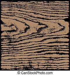 Brown wood texture background in square format